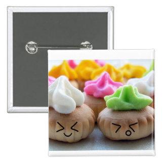 happy cupcakes! 2 inch square button