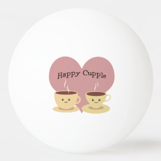 Happy Cupple! Cute Coffee Ping Pong Ball