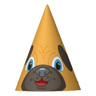 Happy Cute Pug Face Cartoon Holiday hat