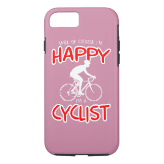 Happy Cyclist (wht) iPhone 8/7 Case