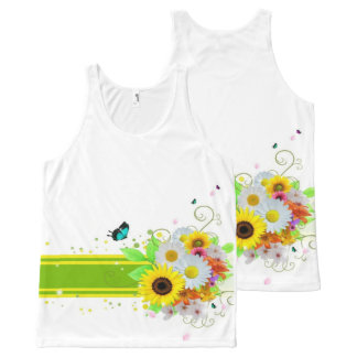Happy Daisies All-Over-Print Tank Top