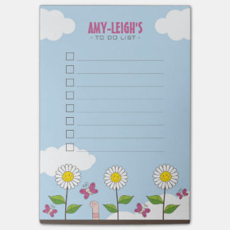 Happy Daisies and Butterflies To Do List Post-it Notes