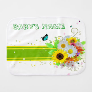 Happy Daisies Burp Cloth