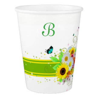Happy Daisies Paper Cup