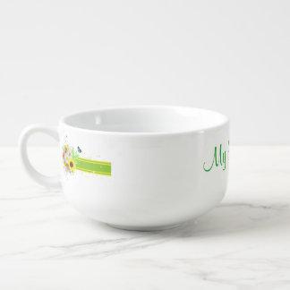 Happy Daisies Soup Mug