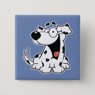 Happy Dalmatian Square Button