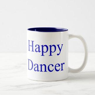 Happy Dancer blue Two-Tone Coffee Mug