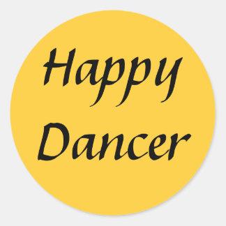 Happy Dancer txt Round Sticker