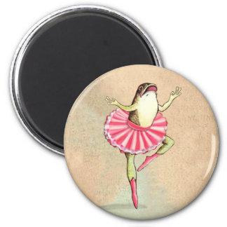 Happy Dancing Ballerina Frog Magnet