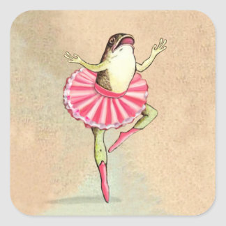 Happy Dancing Ballerina Frog Stickers