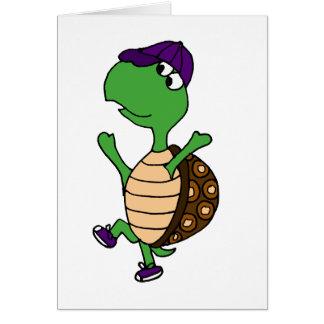 Happy Dancing Turtle Card