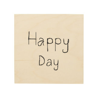 "Happy day 8""x8"" Wood Wall Art Wood Prints"