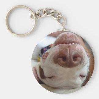 Happy Day Basic Round Button Keychain