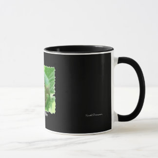 Happy Day - green frog on leaf Mug