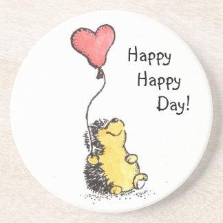 Happy Day Hedgehog Coaster