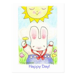 Happy Day! sailor bunny postcard