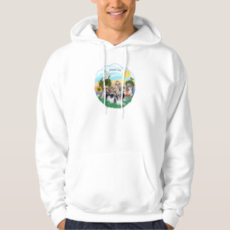 Happy Day with Six Shih Tzus Hoodie