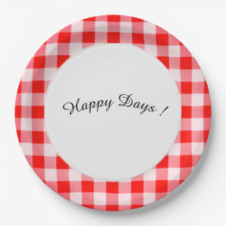 Happy-Days_Red-Picnic-Check_Family Paper Plate