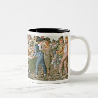 Happy Departure of the Army Volunteers Two-Tone Coffee Mug