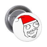 Happy derp santa - meme 2 inch round button
