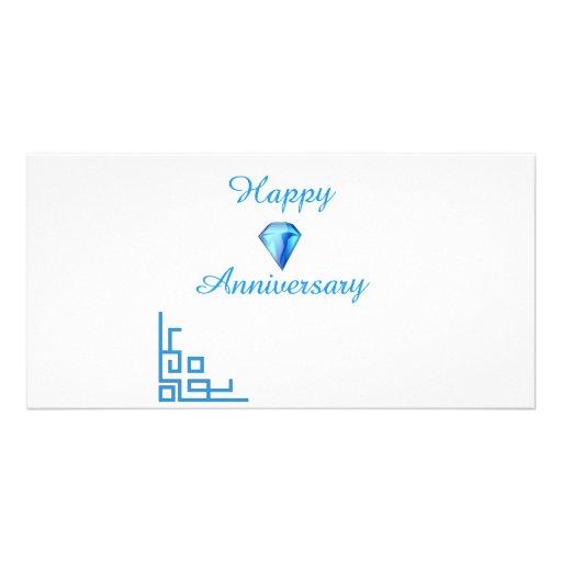 Happy Diamond Anniversary Custom Photo Card