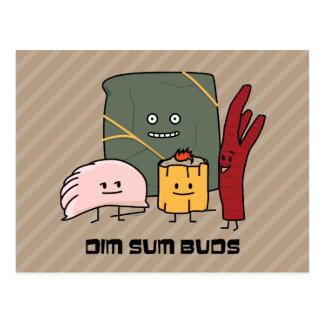 Happy Dim Sum Buds Postcard