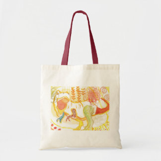 happy dinosaur tote bag