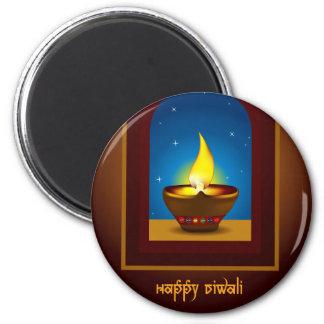 Happy Diwali 2 Inch Round Magnet