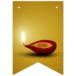 Happy Diwali Diya - Bunting Flags