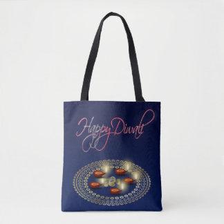 Happy Diwali Ganesha Rangoli - All-Over-Print Tote