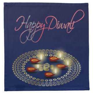 Happy Diwali Ganesha Rangoli - Cloth Napkin