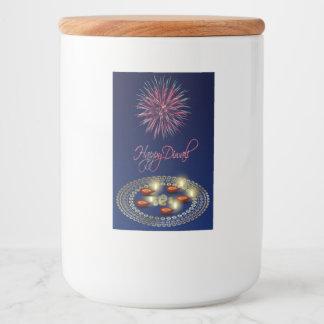 Happy Diwali Ganesha Rangoli Food Container Label