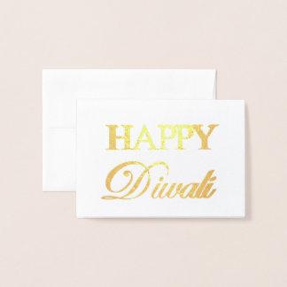 Happy Diwali Gold Foil Elegant Typography Foil Card