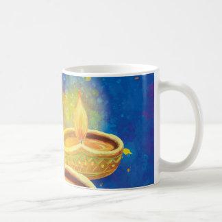 Happy Diwali illuminating candles hand painted Coffee Mug