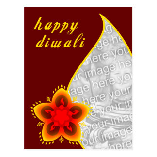 happy diwali photo card : light window