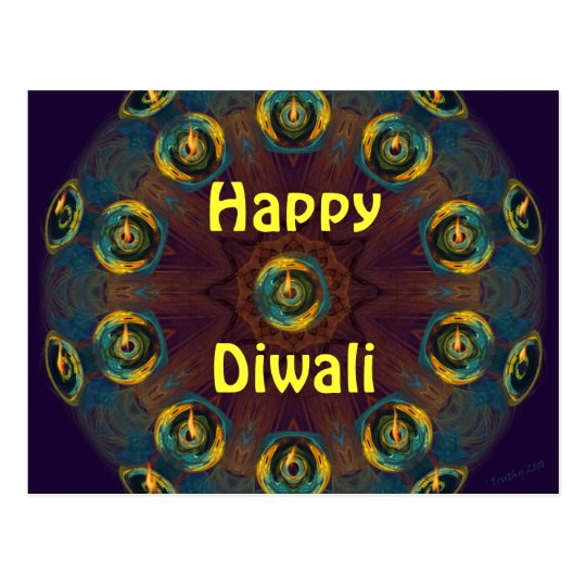 Happy Diwali postcard. Postcard