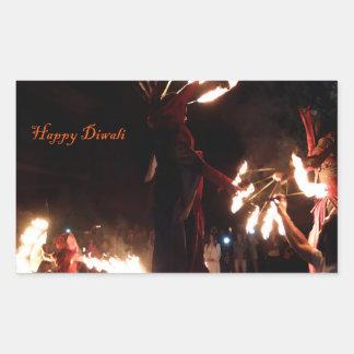 Happy Diwali Rectangle Stickers, Glossy