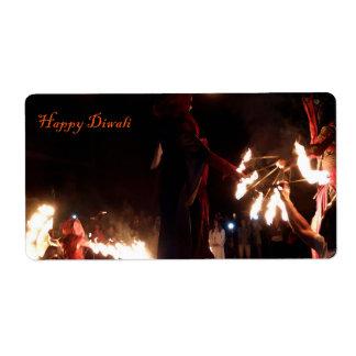 Happy Diwali Shipping Labels