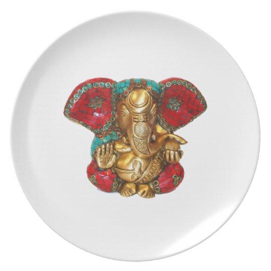 Happy DIWALI -  Thank you GANAPATI Ganesh Plate