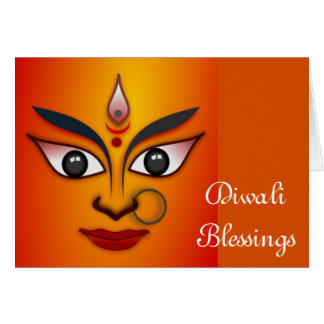 Happy Diwali with Durga Card