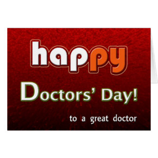Happy Doctors' Bright And Colorful Card