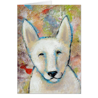 Happy Dog art fun colorful painting of Fred Card