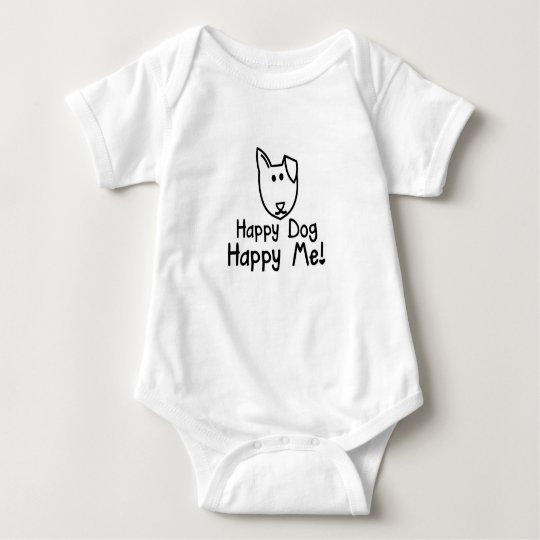 happy dog baby grow baby bodysuit