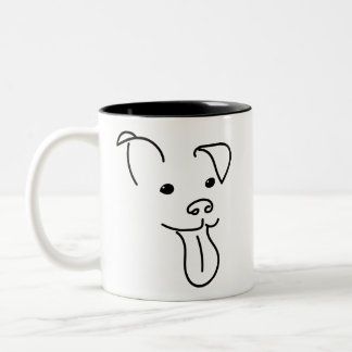 Happy Dog Face Mug
