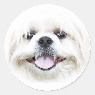 Happy dog face sticker