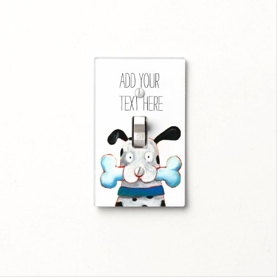 happy dog light switch cover