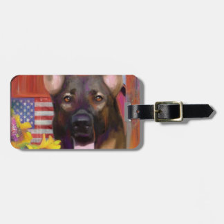 Happy Dog Luggage Tag
