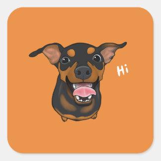 Happy Dog Min Pin Miniature Pinscher Sticker