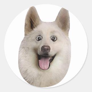 Happy_Dog_Mult_Products Classic Round Sticker