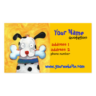 happy dog profile card business card